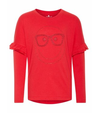 Name-it Name-it rode meisjes t-shirt HAPPY