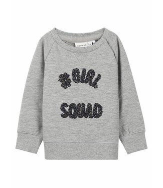 Name-it Name-it grijze meisjes sweater NETTA newborn