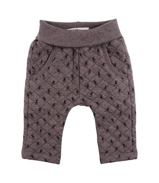 Small rags Small Rags brown boys winter pants aop