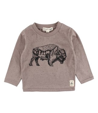 Small rags Small Rags brown boys t-shirt bison