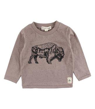 Small rags Small Rags bruine jongens t-shirt bizon