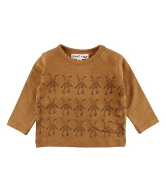 Small rags Small Rags brown boys t-shirt aop