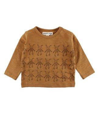 Small rags Small Rags bruine jongens t-shirt aop