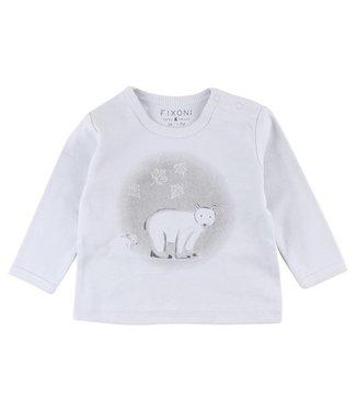 Fixoni Fixoni blauwe jongens t-shirt ijsbeer