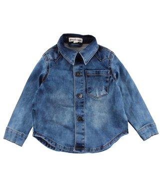 Small rags Chemise en jean bleu avec petits chiffons