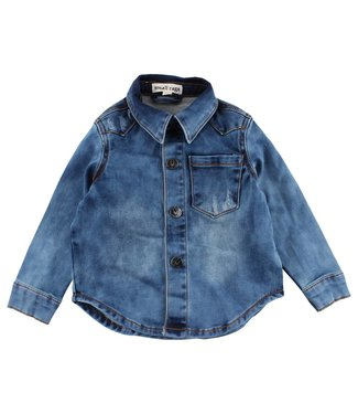 Small rags Small Rags blauw jeans hemd