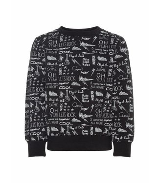 Name-it Name-it zwarte jongens sweater OKKE