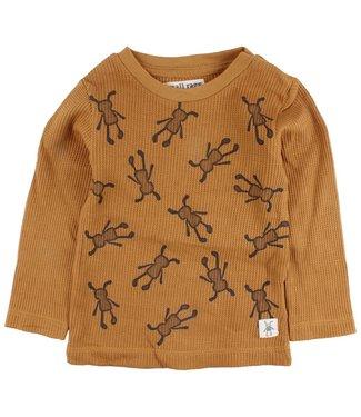 Small rags Small Rags ocher yellow boys t-shirt