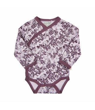 Minymo Minymo purple wrap over romper