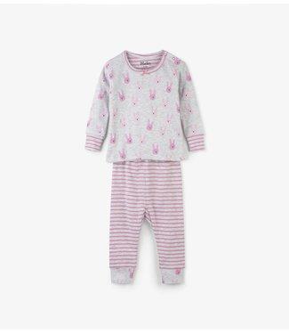 Hatley Hatley girls 2 piece baby pajamas funny bunny