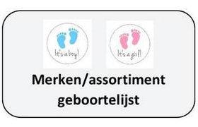 1. Assortiment / merken voor geboortelijsten