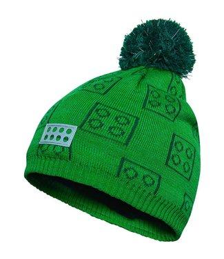Lego wear Legowear groene winter muts Lego blokjes