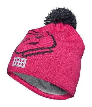Lego wear Legowear roze winter muts Lego hoofd