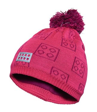 Lego wear Legowear pink winter hat Lego blocks