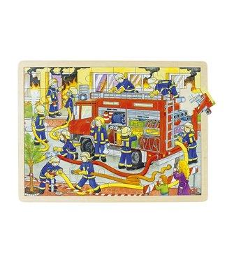 Goki Goki Puzzel Brandbestrijding