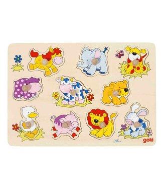 Goki Goki Stitch Puzzle - Animal Babies