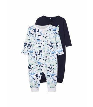 Name-it Name-it pajama set (2) Bright white - Dino's