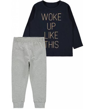 Name-it Name-it jongens pyjama set Woke up like this - mini