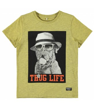 Name-it Name it jongens tshirt BDOG Pale Marigold