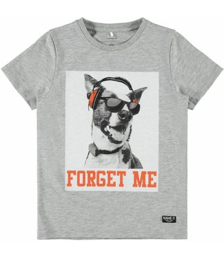 Name-it Name it jongens tshirt BDOG Grey Melange