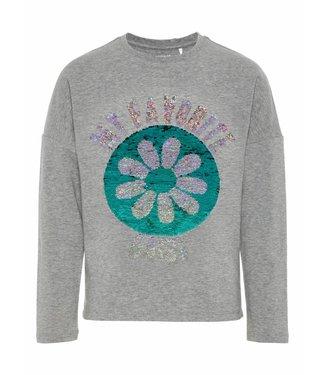 Name-it Nommez-le Tshirt Girls Daisy Vada Grey Melange