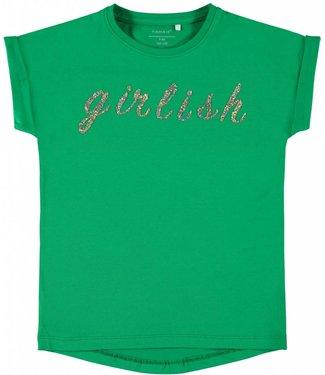 Name-it Name it girls tshirt Tinka Jolly green