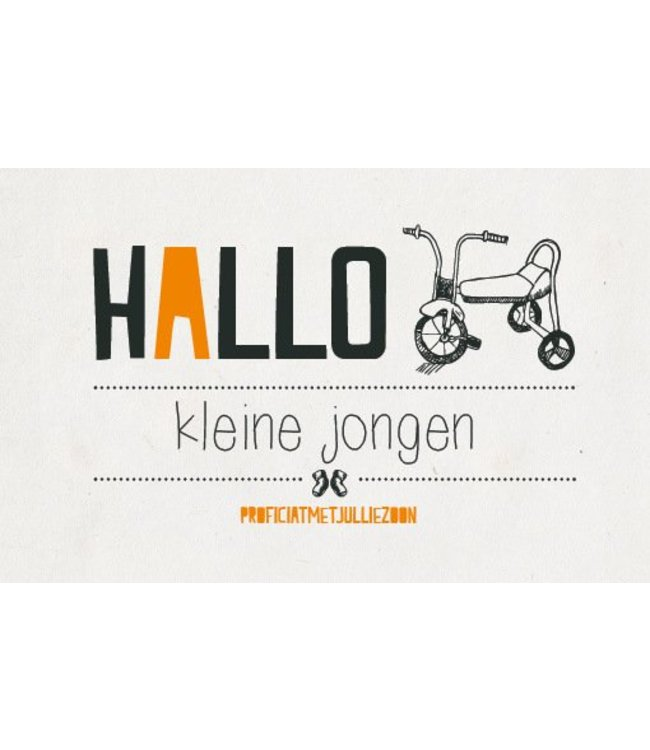 Leukekaartjes Greeting card - birth Hello little boy