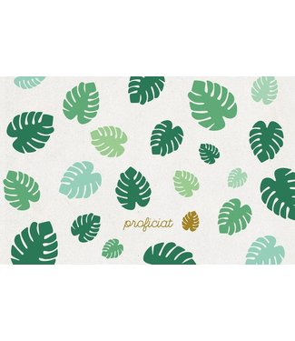 Leukekaartjes Greeting card - Congratulations with tropical leaves