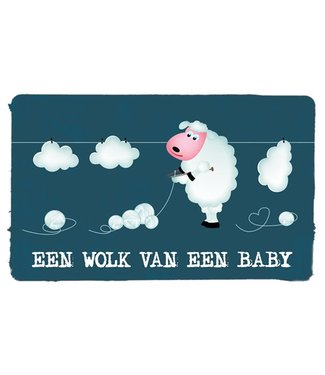 Leukekaartjes Greeting card - birth A cloud of a baby