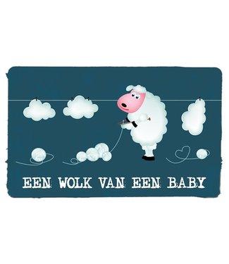 Leukekaartjes Wenskaart - geboorte  Een wolk van een baby