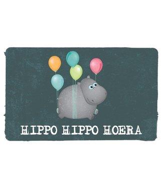 Leukekaartjes Greeting card - Hippo hippo hurray