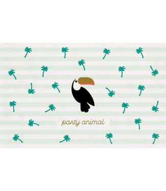 Leukekaartjes Greeting card - Party animal toucan