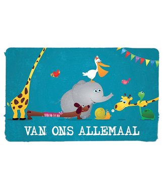 Leukekaartjes Wenskaart - Van ons allemaal