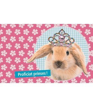 Leukekaartjes Wenskaart -  proficiat prinses