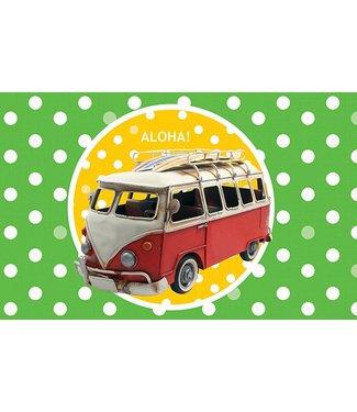 Leukekaartjes Carte de voeux - bus de surf aloha