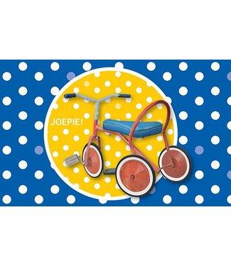 Leukekaartjes Greeting card - Tricycle Joepie