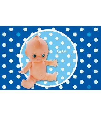 Leukekaartjes Greeting card - birth retropop boy
