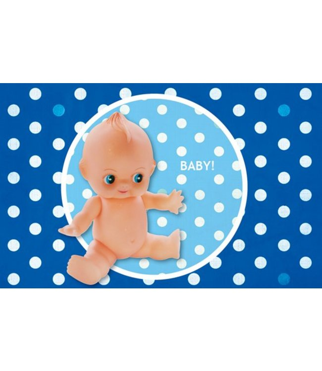 Leukekaartjes Wenskaart - geboorte  retropop jongen