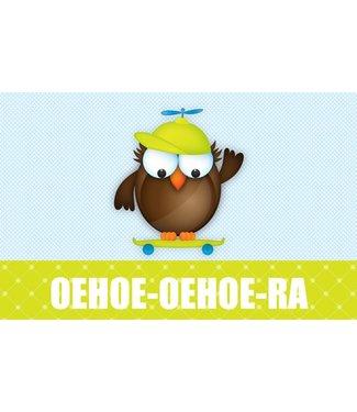Leukekaartjes Carte de voeux - Owl Eagle Owl ra