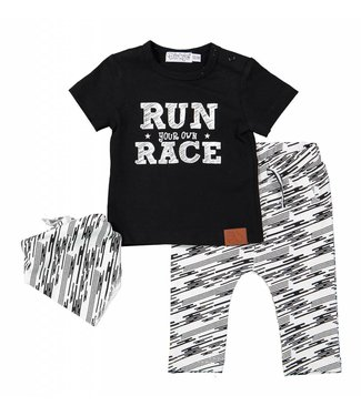 Dirkje kinderkleding Dirkje boys set (3pcs) Run your own race