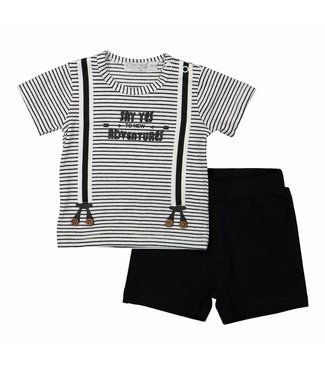 Dirkje kinderkleding Dirkje boys set (2pcs) Say yes to new adventures