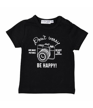 Dirkje kinderkleding Dirkje black boys tshirt Do not worry be happy