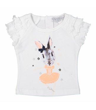 Dirkje kinderkleding Dirkje meisjes tshirt konijn danseres