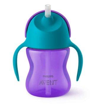 Avent Avent drinkbeker met rietje 200ml - paars