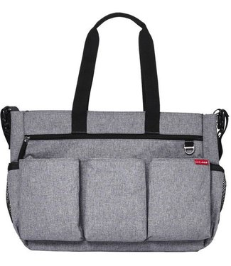 Skip hop Diaper Bag Duo Double Signature Deluxe Heather Gray