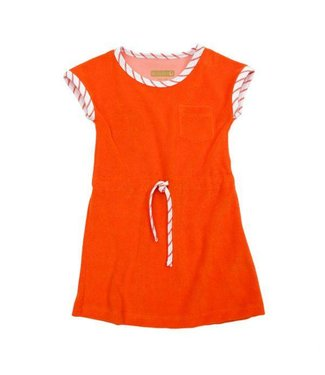 Lily Balou Lily Balou Robe Félin En Éponge Rouge Orange