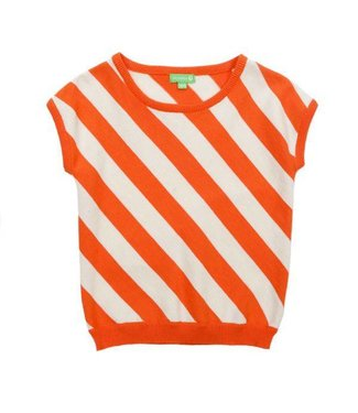Lily Balou Lily Balou Bella Top Knitwear Red Orange