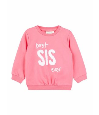 Name-it Name-it roze meisjes sweater Best sis ever