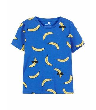 Name-it Name it boys blue tshirt Darasmus bananas