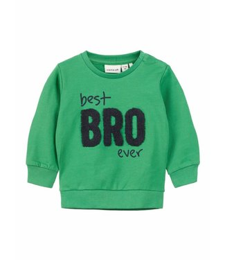 Name-it Name-it groene sweater Dada Best Bro Ever